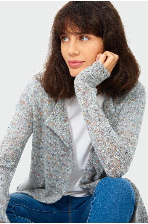 długi sweter kardigan damski