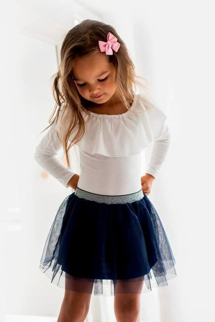 stylowe bluzki z długim rękawem dla dziewczynek