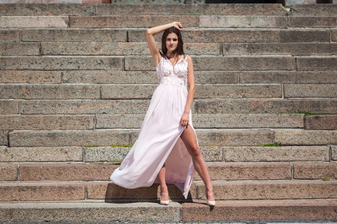 sukienka na wesele długa